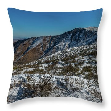 Snow In The Rain Shadow Throw Pillow