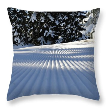 Snow Is Groovy Man Throw Pillow