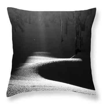 Snow Laden Throw Pillow