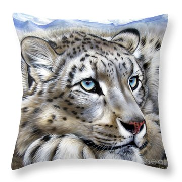 Snow-leopard's Dream Throw Pillow