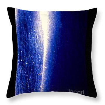 Snow Lightning Throw Pillow