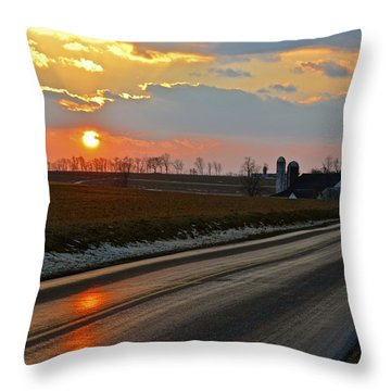Snow Melt Reflections Throw Pillow