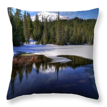 Snow-melt Revelations Throw Pillow