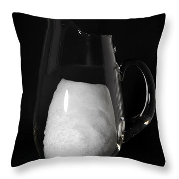 Snow Melting 3 Of 8 Throw Pillow