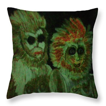 Sonny And Cher Throw Pillow