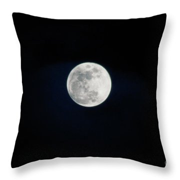 Snow Moon 4 Throw Pillow by Janie Johnson