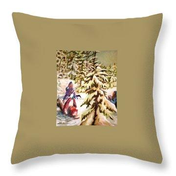 Snow - Neige Throw Pillow