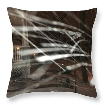 Snow On Coulter Throw Pillow