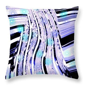 Throw Pillow featuring the digital art Snow On Ski Mountain by Marsha Heiken