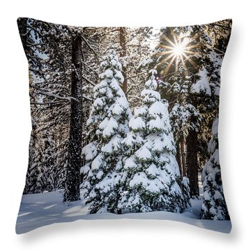 Snow On Spooner Summit Throw Pillow