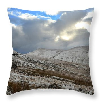 Throw Pillow featuring the photograph Snow On The Connor Pass by Barbara Walsh
