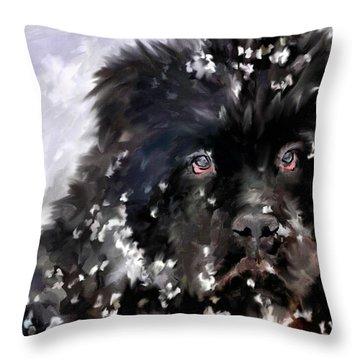 Snow Play Throw Pillow by Jai Johnson