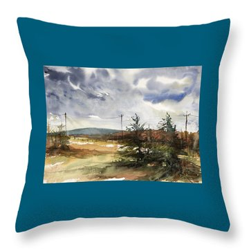 Snow Sky In Fall Throw Pillow