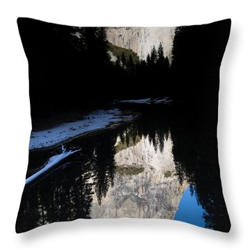 Snow Sneaks In Throw Pillow