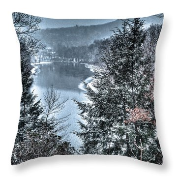 Snow Squall Throw Pillow by Tom Cameron