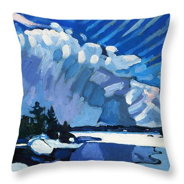 Snow Squalls Throw Pillow by Phil Chadwick