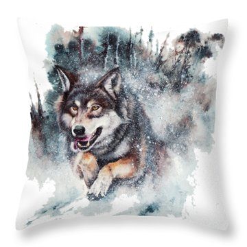 Snow Storm Throw Pillow