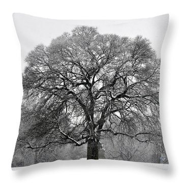 Snow Tree 2 Throw Pillow