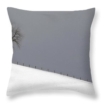 Throw Pillow featuring the photograph Snow Tree by Ken Barrett