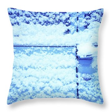 Snow Van 51 Chevy Panel Throw Pillow