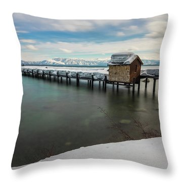 Snow White Pier Throw Pillow