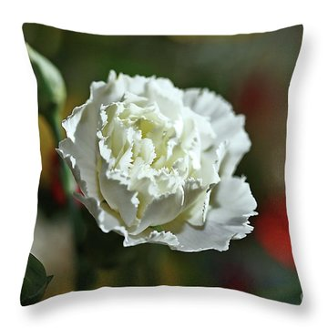 Throw Pillow featuring the photograph Snow White by Stephen Mitchell