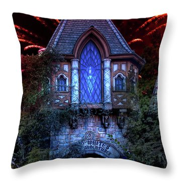 Snow White's Scary Adventures Throw Pillow