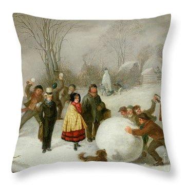 Dog Fight Throw Pillows