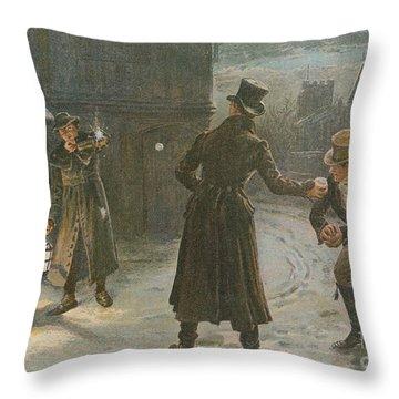 Snowballing The Watchmen Throw Pillow