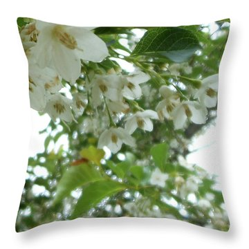 Snowbell Sparkles In Spring Throw Pillow