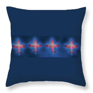 Snowbird Formation 2 Throw Pillow