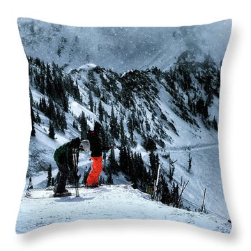Snowbird Throw Pillow