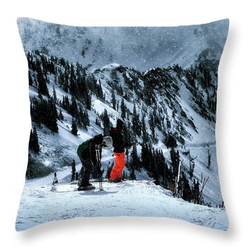 Snowbird Throw Pillow by Jim Hill