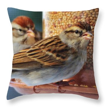 Snowbirds Throw Pillow