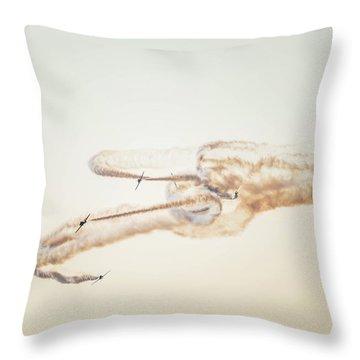 Snowbirds Over English Bay Throw Pillow