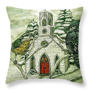 Snowbirds Visit St. Paul Throw Pillow