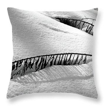 Snowbound Throw Pillow by Debbie Oppermann