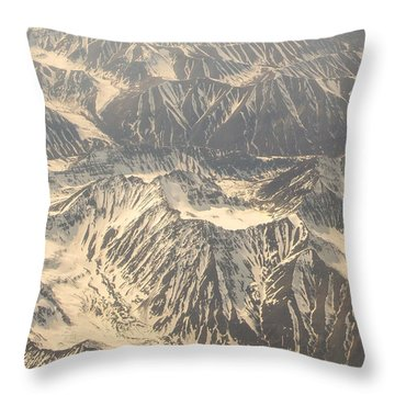 Snowcapped Inactive Volcano Throw Pillow by Allan Levin