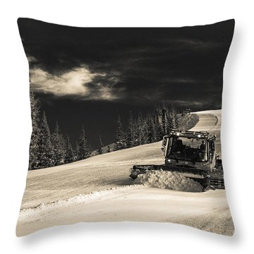 Snowcat Throw Pillow