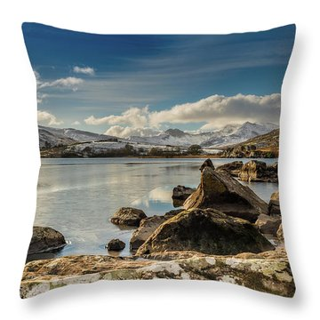 Throw Pillow featuring the photograph Snowdon From Llynnau Mymbyr by Adrian Evans