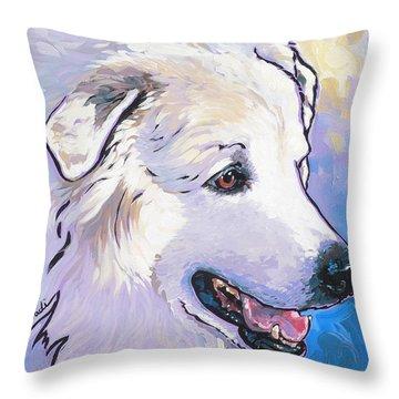 Snowdoggie Throw Pillow by Nadi Spencer
