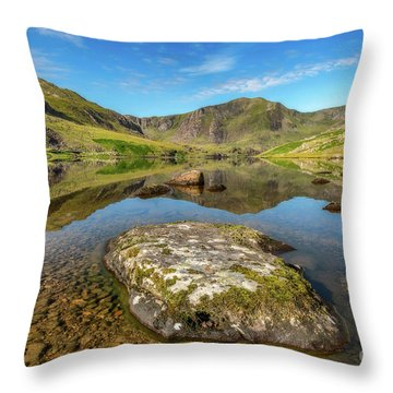 Throw Pillow featuring the photograph Snowdonia Mountain Reflections by Adrian Evans