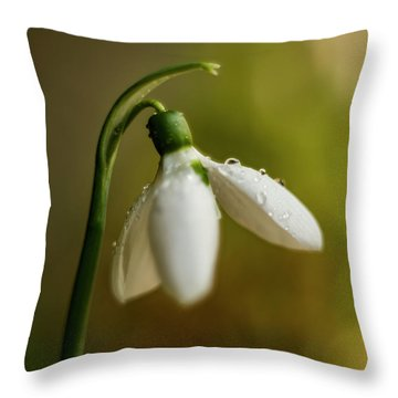 Snowdrop Throw Pillow