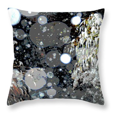 Throw Pillow featuring the photograph Snowfall Deconstructed by Li Newton