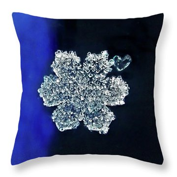 Snowflake Love Throw Pillow