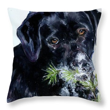 Snowflake Throw Pillow by Molly Poole