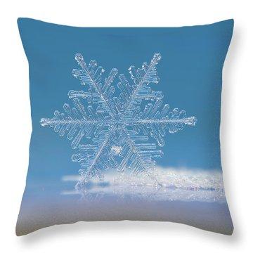 Snowflake Photo - Cloud Number Nine Throw Pillow