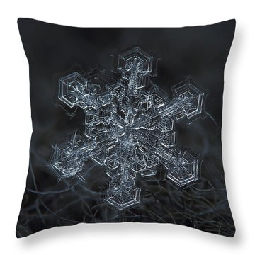 Snowflake Photo - Complicated Thing Throw Pillow
