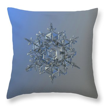 Snowflake Photo - Crystal Of Chaos And Order Throw Pillow