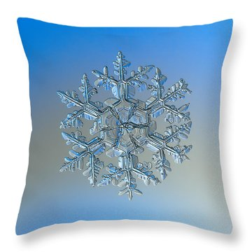 Throw Pillow featuring the photograph Snowflake Photo - Gardener's Dream by Alexey Kljatov